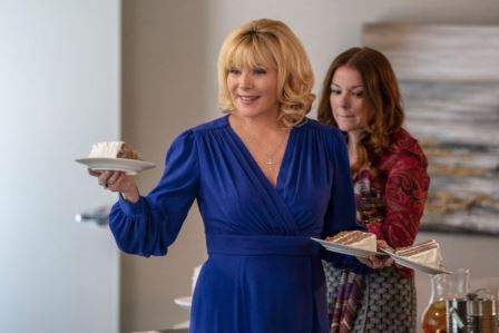 Kim Cattrall and Aubrey Dollar in the FILTHY RICH Episode 1