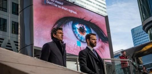 Patrick Dempsey as Dominic Morgan and Alessandro Borghi as Massimo Ruggero in 'Devils' season 1 episode 2 (Photo: Antonello and Monte © Sky Italia)