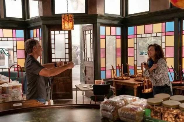 NCIS New Orleans Season 7 Episode 2. L-R Scott Bakula as Special Agent Dwayne Pride and Chelsea Field as Rita Devereaux jpg