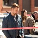 Chicago PD season 8, episode 13 Photos Patrick John Flueger as Adam Ruzek, Marina Squerciati as Kim Burgess, Jason Beghe as Hank Voight