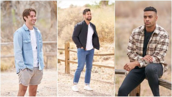 (Left) Greg, 27, a marketing sales rep from Edison, N.J. (Centere)Blake, 30, a wildlife manager from Hamilton, Ontario, Canada (Right)Justin, 26, an investment sales consultant from Baltimore, Md. _ Photo ABC