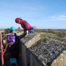 Training on historic buildings - rope work