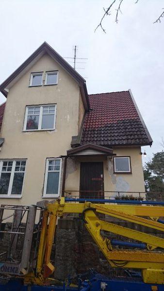 Taktvätt innan fasadrenovering