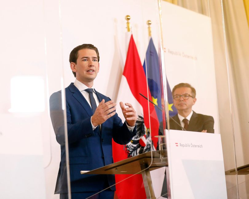 """KANCELAR KURZ: Masovnim testiranjem izbjeći daljnja """"zaključavanja"""" Austrije do isporuke cjepiva početkom 2021."""