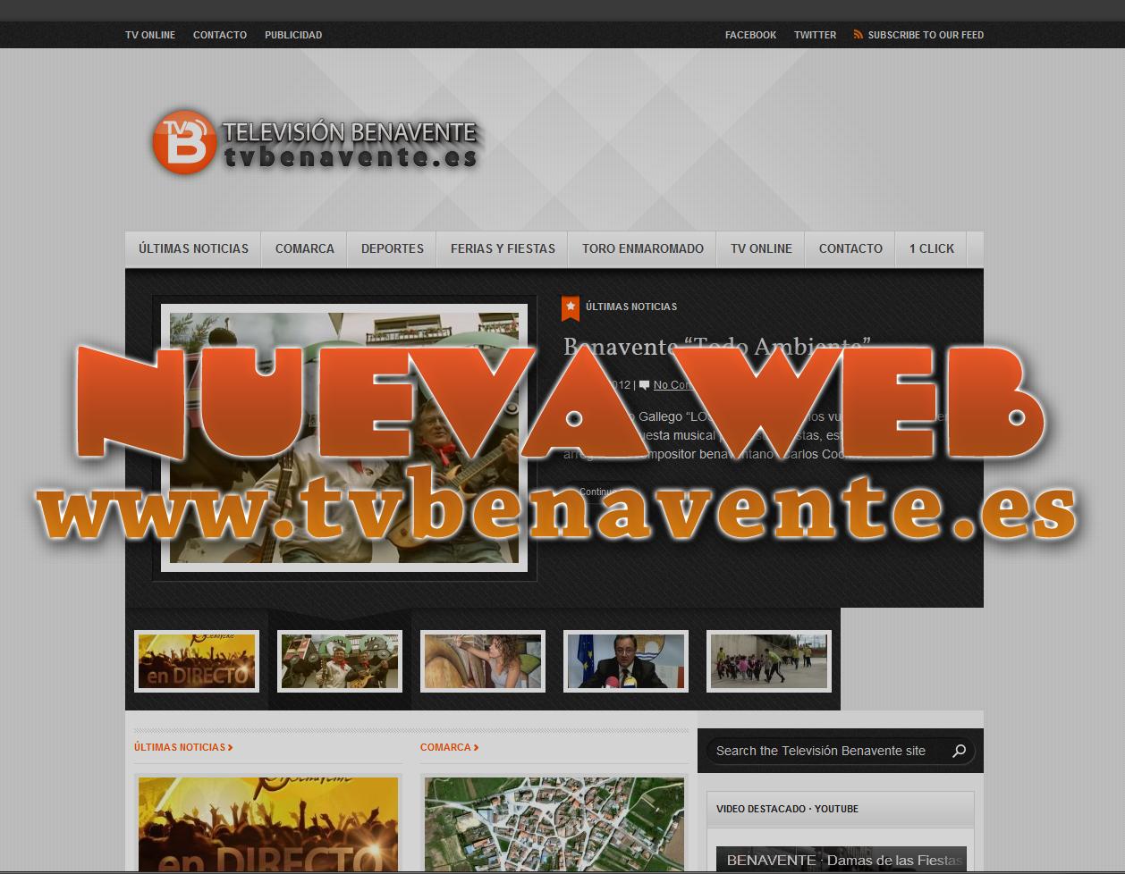Nueva pagina web televisión benavente