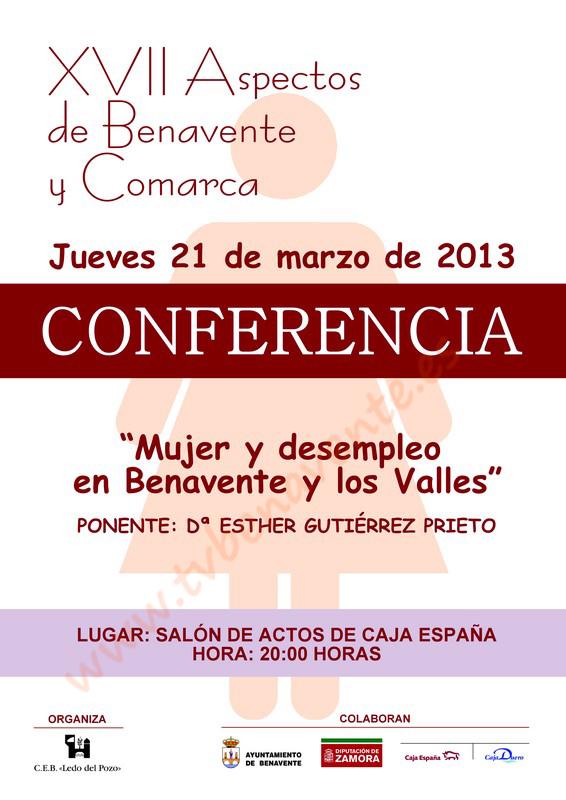 Cartel Conferencia Ledo del Pozo 2013