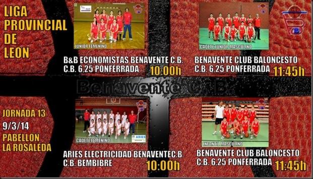 liga provincial de leon  benavente club baloncesto