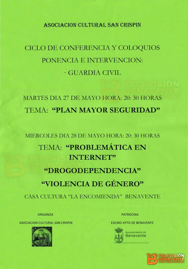 CONFERENCIAS GC SAN CRISPIN