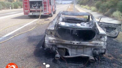Photo of CALCINADO UN COCHE EN LA AUTOVÍA A66 A LA ALTURA DE VILLABRÁZARO