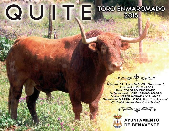 QUITE - TORO ENMAROMADO 2015 - BENAVENTE TV
