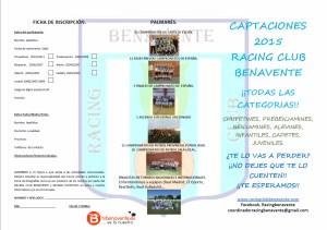 CAPATACIÓN RACING BENAVENTE 1