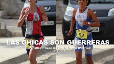 Photo of Mª José García y Victoria Vaquero graduadas en el II triatlón Piña de Campos