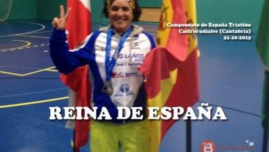 Photo of María José García campeona de España de Triatlón. Álex Contero de duatlón.