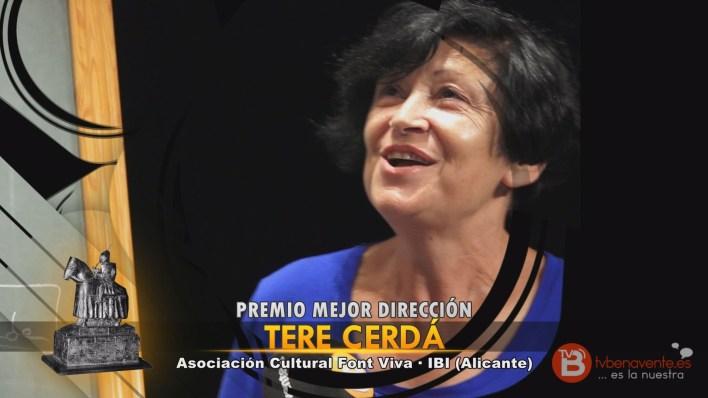 PREMIO MEJOR DIRECCIÓN - TEATRO BENAVENTE 2015