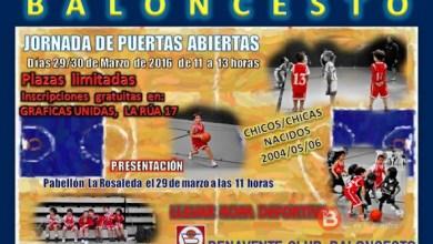 Photo of El Benavente Club Baloncesto celebrará el 29 y 30 de Marzo una Jornada de Puertas Abiertas