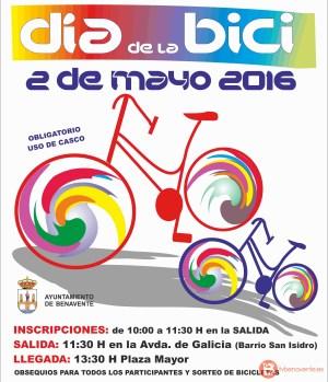 Cartel Dia de la Bici 2016 - Benavente