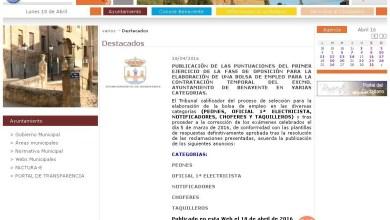 Photo of Publicadas las primeras puntuaciones de los exámenes para la bolsa de empleo del ayuntamiento de Benavente