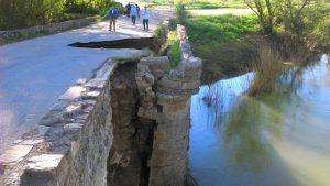 puente romano castrogonzalo desprendimiento 2016