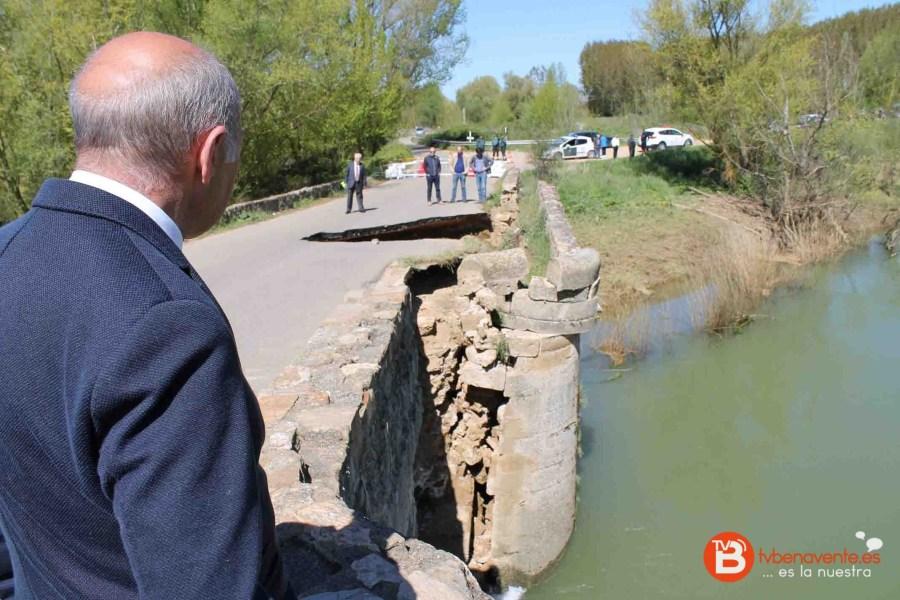 subdelegado visita puente castrogonzalo derrumbe 2016 - 0s