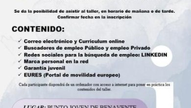 Photo of Taller práctico de búsqueda de empleo por internet en Benavente