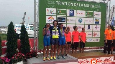 Photo of Las integrantes del Triatlon Dual Bike ganan el segundo puesto en Gijon