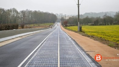 Photo of La primera carretera con paneles solares en el mundo