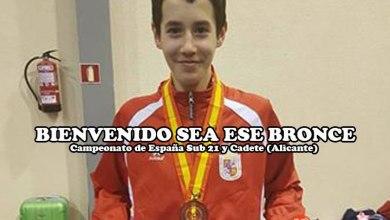 Photo of Aarón Carracedo se cuelga la medalla de bronce en el Campeonato de España cadete