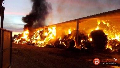 Photo of Incendio en una explotación ganadera en Quintanilla del Monte