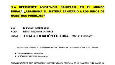 Photo of Charla y debate abierto sobre la asistencia sanitaria en Fuentes de Ropel
