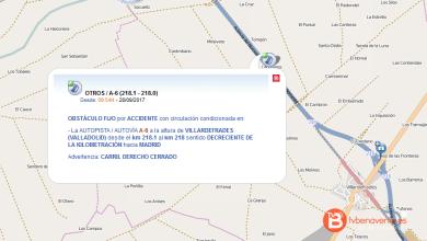 Photo of Cortada al tráfico la A-6 en Villardefrades por el vuelco de un camión