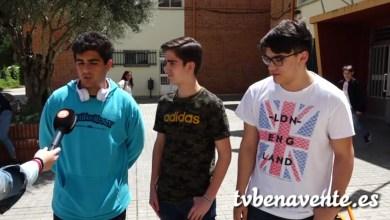 Photo of Los alumnos del IES León Felipe e Iván Bragado juntos hasta el Vizcodillo