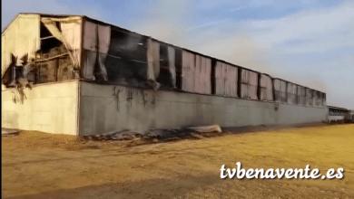 Photo of Incendio en una nave de San Esteban del Molar