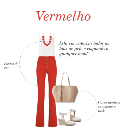 Tv Catia Fonseca moda cores vibrantes - vermelho