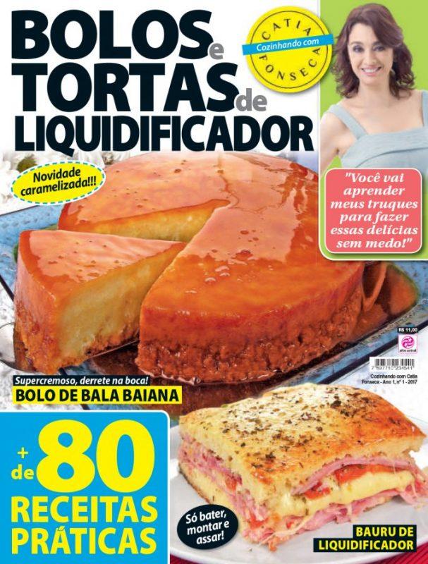 Revista da Catia - Bolos e tortas de liquidificador Tv Catia Fonseca receita Torta de chocolate com cereja maravilhosa da Catia