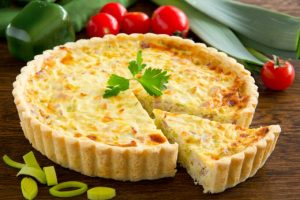 Quiche de alho poró com bacon do chef Alan Datorre