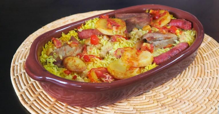 Arroz de forno espanhol da chef Mireia Vila Garcia