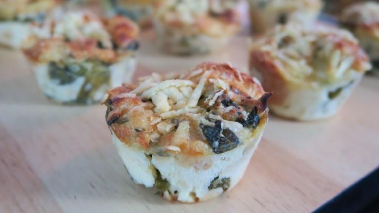 Pudim de pão de escarola e queijo fresco da chef Roberta Engels