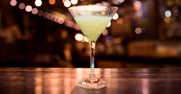 Martini de Rosa com Lichia por chef Erick Passarelli