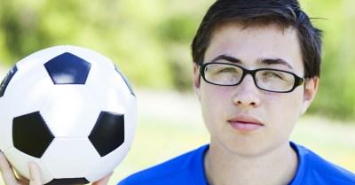 Óculos no futebol