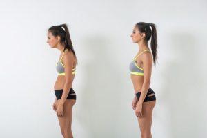 Postura correta para perder a barriga por Milena Gonçalves Martin