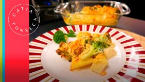 Deu água na boca? Aprenda a fazer esta maravilhosa batata gratinada com brócolis da Catia!