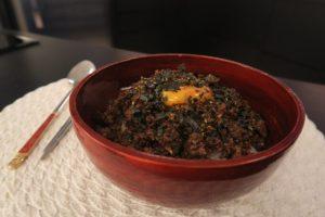 Soborodon (donburi com frango e ovo mole)