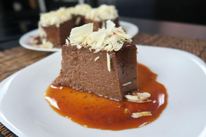 Pudim de chocolate maravilhoso da Catia!