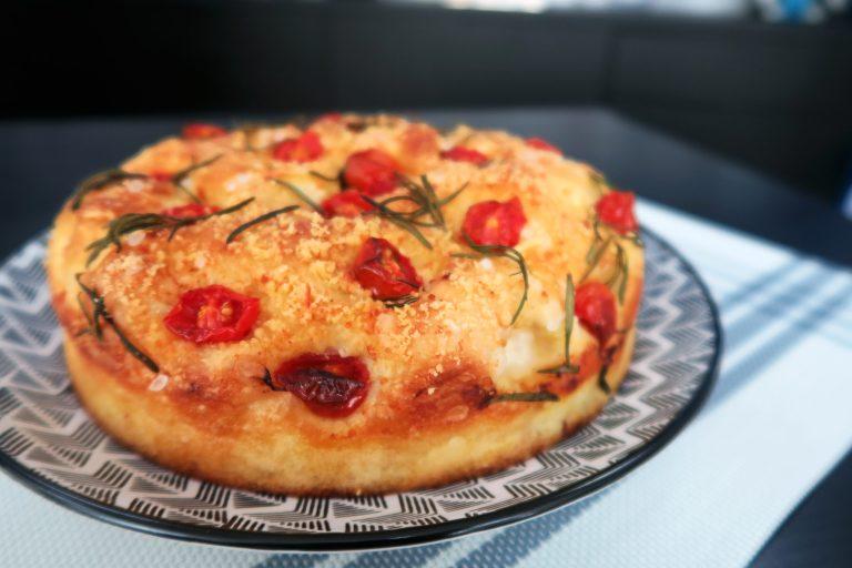 Focaccia de tomate com alecrim por Flavio Duarte