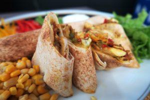 Kebab de fahrita de frango do chef Mazen Zwawe