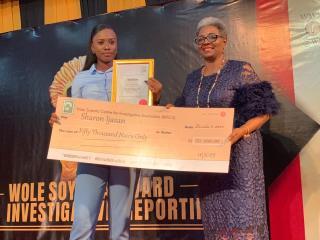 Sharon Wins Wole Shoyinka Award