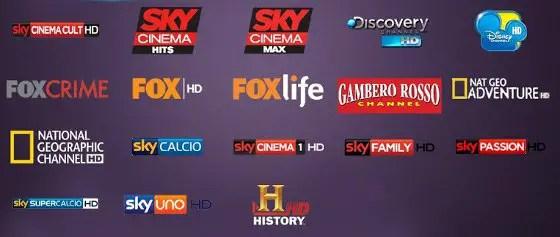 La lista dei canali satellitari HD (HotBird 13°)