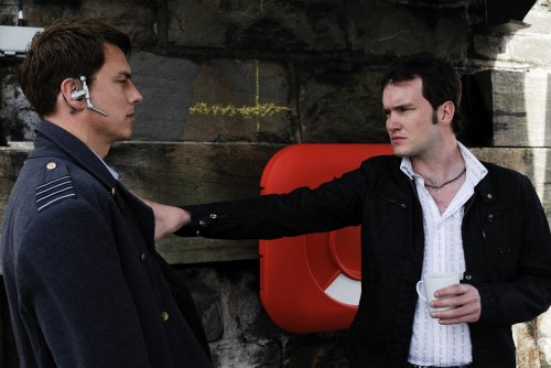Torchwood - John Barrowman as Captain Jack Harkness and Gareth David-Lloyd as Ianto Jones