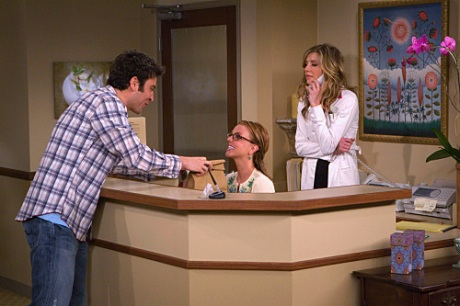 How I Met Your Mother - Josh Radnor as Ted, Britney Spears as Abby, and Sarah Chalke as Stella