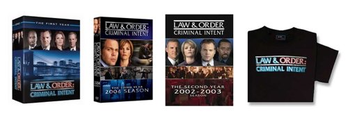 Law & Order: CI - DVDs and T-Shirt